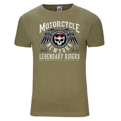 T-shirt Motorcycle New York(olivgrön)