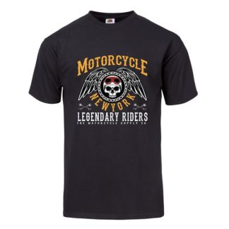 T-shirt Motorcycle New York (svart)