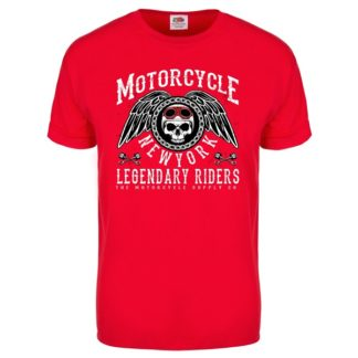 T-shirt Motorcycle New York (röd)